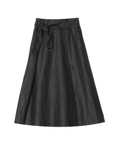 ベルテッド ラップスカート