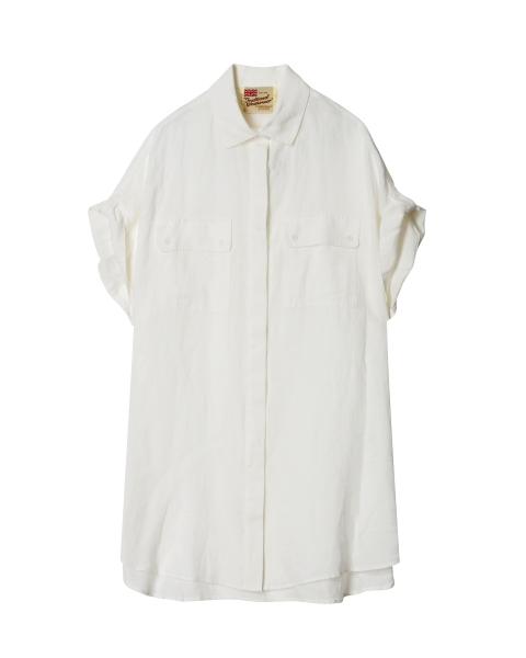 ビッグ フレンチスリーブシャツ ウィズ ポケット
