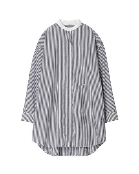 ビッグシャツ バンドカラー<br>ロングスリーブ
