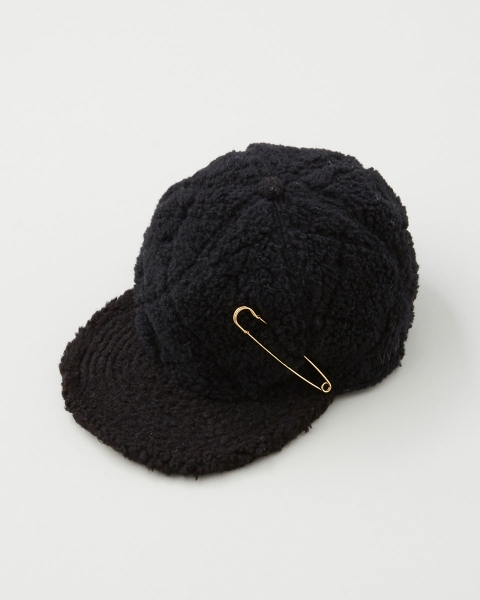QUILTED CAP WITH PIN キルテッドキャップ ウィズ ピン