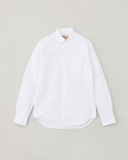 【MEN'S】B.D. SHIRTS WITH PATCH 詳細画像 ホワイト 1
