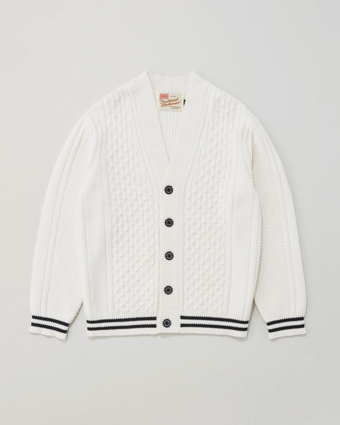 【MEN'S】CABLE TILDEN CARDIGAN