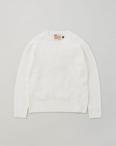 【MEN'S】BASIC LAMB'S WOOL CREWNECK KNIT