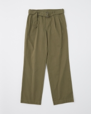 【MEN'S】WORK PANTS WIDE WITH BELT 詳細画像 カーキ 1
