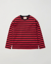 【MEN'S】LONG SLEEVE COTTON CREWNECK T-SHIRTS 詳細画像 レッド×ブラック 1