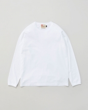 【MEN'S】LONG SLEEVE COTTON RIB T-SHIRTS 詳細画像 ホワイト 1