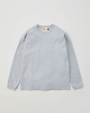 【MEN'S】LONG SLEEVE COTTON RIB T-SHIRTS 詳細画像 グレー 1