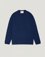 【MEN'S】LONG SLEEVE COTTON RIB T-SHIRTS 詳細画像 ネイビー 1