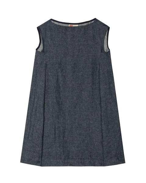 ボートネック フレンチスリーブ ドレス