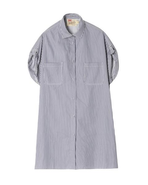 フレンチスリーブ ビッグシャツ<br>ウィズ ポケット