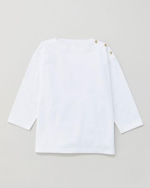 ボーイフレンドクルーネックシャツ ウィズ ドット