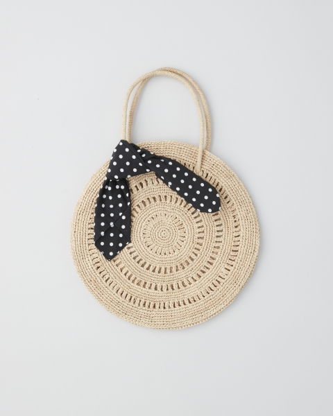 MAISON N.H PARIS / RAFFIA CIRCLE BAG