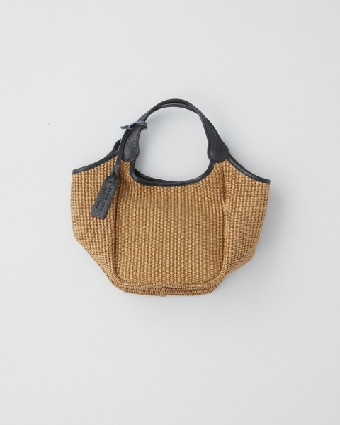 MARCO MASI / STRAW&LEATHER TOTE