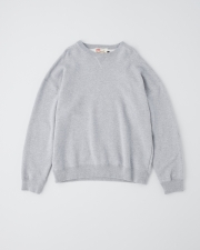 【MEN'S】QUILTED PATCH CREW NECK PULL OVER 詳細画像 グレー 1