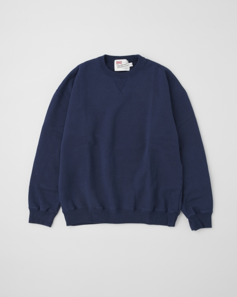 【MEN'S】QUILTED PATCH CREW NECK PULL OVER