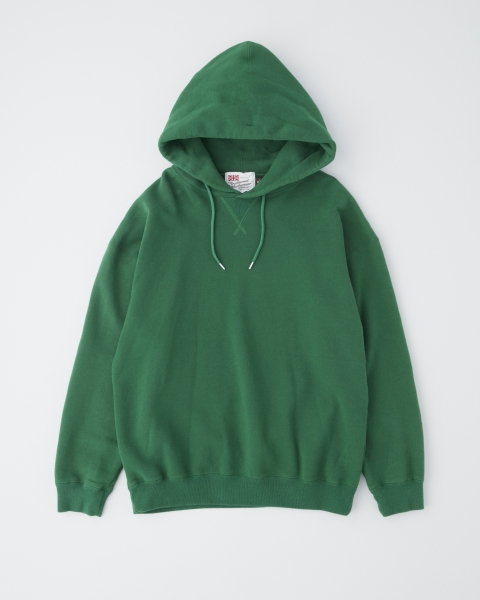【MEN'S】QUILTED PATCH  CREW NECK PULL OVER PARKA キルテッドパッチ クルーネック プルオーバーパーカ