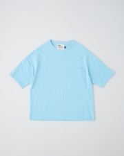 【MEN'S】BIG T-SHIRTS WITH POCKET       詳細画像 カプリブルー 1