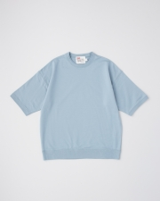 【MEN'S】CREW NECK HALF SLEEVE PULL OVER 詳細画像 スカイブルー 1