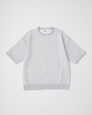 【MEN'S】CREW NECK HALF SLEEVE PULL OVER 詳細画像 トップグレー 1