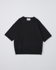 【MEN'S】CREW NECK HALF SLEEVE PULL OVER 詳細画像 ブラック 1
