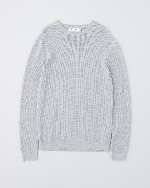 【MEN'S】THERMAL KNIT PULL OVER
