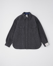 FRONT POCKET SHIRT HEAT TWEED 詳細画像 ヘリンボーン 1