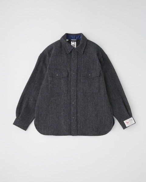 FRONT POCKET SHIRT HEAT TWEED