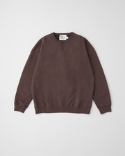 QUILTED PATCH CREW NECK PULL OVER 詳細画像 ブラウン 1