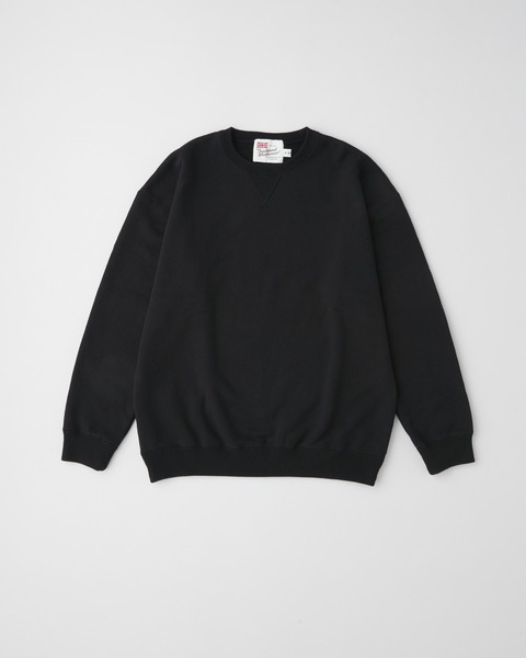 QUILTED PATCH CREW NECK PULL OVER