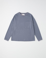 BIG FRONT POCKT LONG SLEEVE 詳細画像 ブルーグレー 1