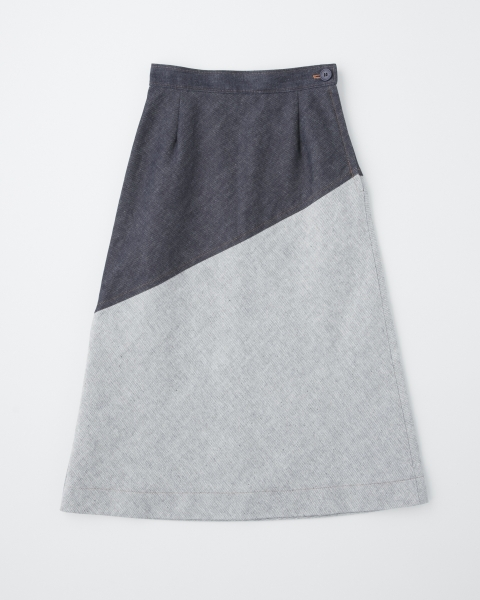HIGH WAIST BIAS SKIRT