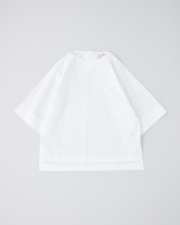 OVER SIZE BOAT NECK HALF SLEEVE TOP      詳細画像 ホワイト 1