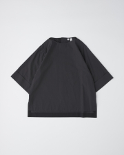 OVER SIZE BOAT NECK HALF SLEEVE TOP      詳細画像 ブラック 1