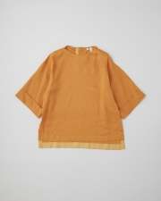OVER SIZE BOAT NECK HALF SLEEVE TOP 詳細画像 オレンジ 1