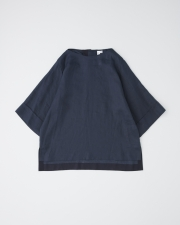 OVER SIZE BOAT NECK HALF SLEEVE TOP 詳細画像 ネイビー 1