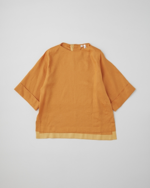 OVER SIZE BOAT NECK HALF SLEEVE TOP