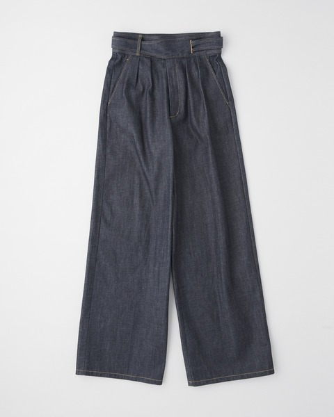 WRAPPED BELT WIDE PANTS