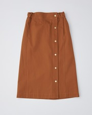 SIDE BUTTON GATHERED SKIRT 詳細画像 ウォルナット 11