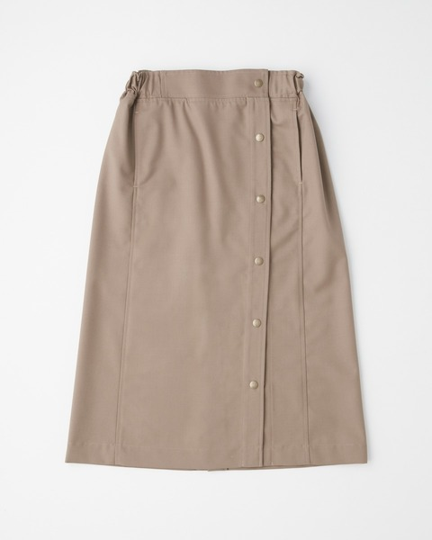 SIDE BUTTON GATHERD SKIRT