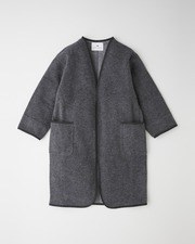 【HIGH STREET COLLECTION】NO COLLAR LONG CARDIGAN 詳細画像 チャコール 1