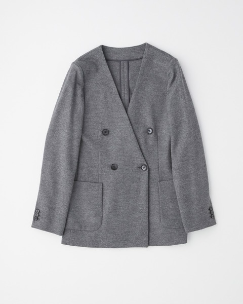 【HIGH STREET COLLECTION】NO COLLAR JERSEY JACKET