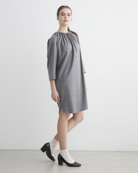 【HIGH STREET COLLECTION】GATHER NECK DRESS ONE-PIECE