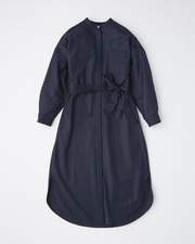 【HIGH STREET COLLECTION】STAND NECK SHIRT ONE-PIECE 詳細画像 ネイビー 1