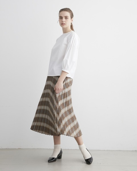 【HIGH STREET COLLECTION】LONG PLEATS SKIRT