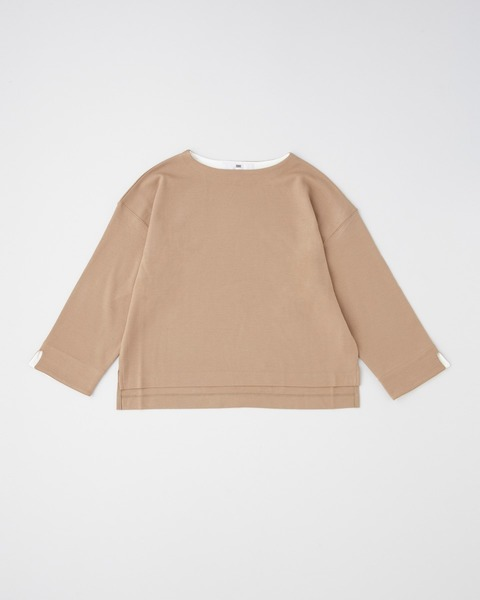 【HIGH STREET COLLECTION】CUFF BI COLOR BOAT NECK PULL OVER