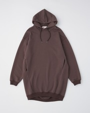 PUFF SLEEVE SWEAT PARKA ONE-PIECE 詳細画像 ブラウン 1