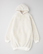 PUFF SLEEVE SWEAT PARKA ONE-PIECE 詳細画像 オフホワイト 11