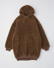 PUFF SLEEVE SWEAT PARKA ONE-PIECE 詳細画像 ベージュ 11