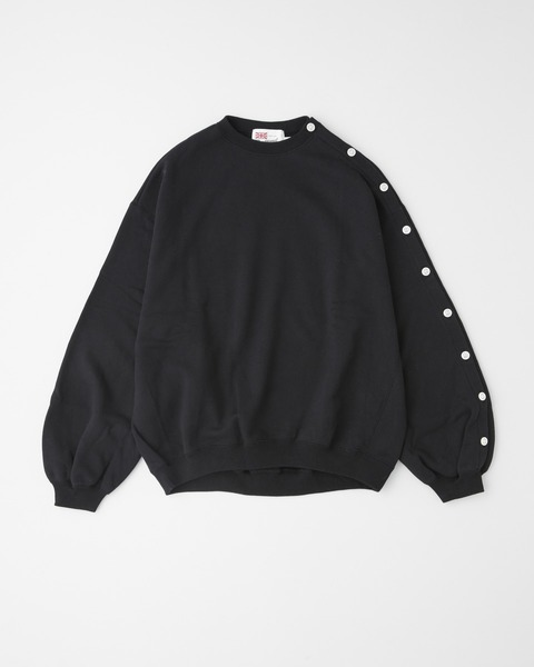 PUFF SLEEVE SWEAT with BUTTON