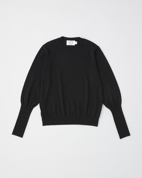 RIB SLEEVE PULL OVER